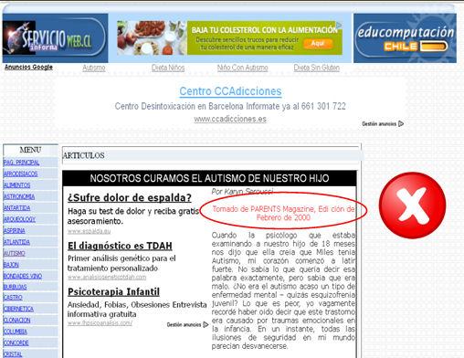 Exemples d'indicació d'actualització: fisterra.com, CAMFIC i Infermera virtual