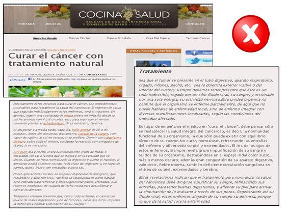 Salud. Curar el cáncer con tratamiento natural