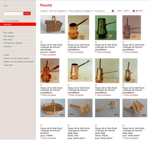 Gràfic 5. Resultat d'una cerca amb la fitxa informativa. Museu de la Vida Rural de l'Espluga de Francolí