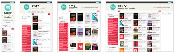 Figura1 : Ejemplos de páginas web con  diseño responsive a varios tamaños de  pantalla.