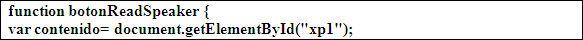 Recuperació de l'element DOM que inclou el contingut que s'ha de vocalitzar