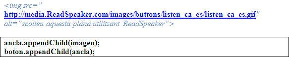 Vinculación del botón, ancla e imagen