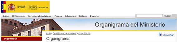 Botón ReadSpeaker en la web del Ministerio de Educación, Cultura y Deporte
