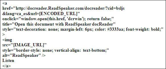 Codi facilitat pel ReadSpeaker