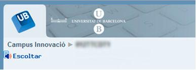Icono de Readspeaker en la implementación básica dentro de la Universidad de Barcelona