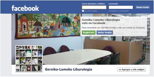 Figura 2. Perfil en Facebook de la biblioteca de Gernika