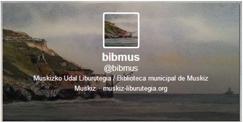 Figura 3. Cuenta en Twitter de la Biblioteca Municipal de Muskiz