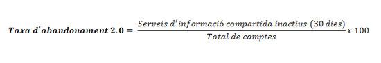 Figura 4. Fórmula de la taxa d'abandonament 2.0