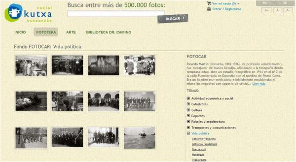 Detalle de la colección Fotocar de la Kutxateka