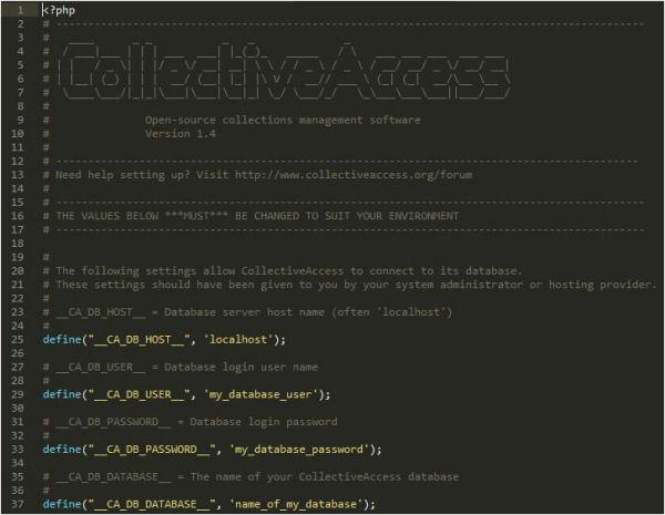 Detall del fitxer setup.php-dist