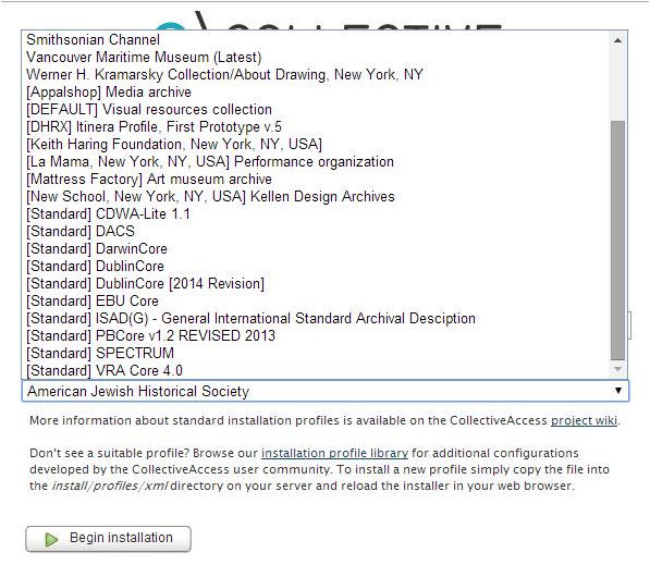 Perfiles de instalación disponibles con el paquete Providence 1.4