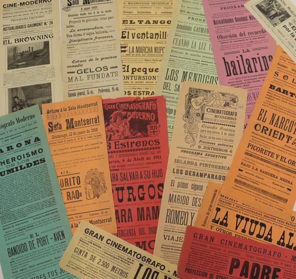 Figura 6. Cartelleres d'inici de segle a la Filmoteca de Catalunya
