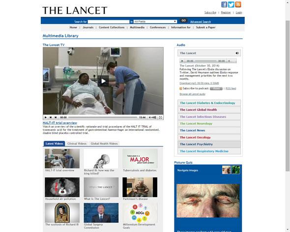 Imatge  2. Lloc web www.thelancet.com