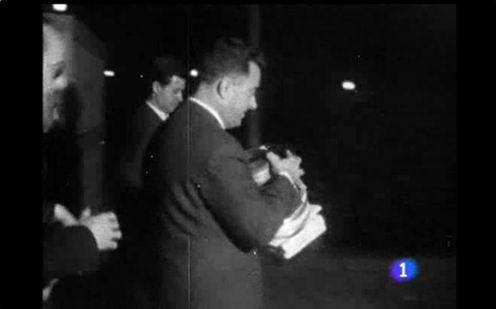 Trasllat de les imatges de la cobertura de TVE de la visita d'Eisenhower a la xarxa d'Eurovision l'any 1959. Font: www.rtve.es