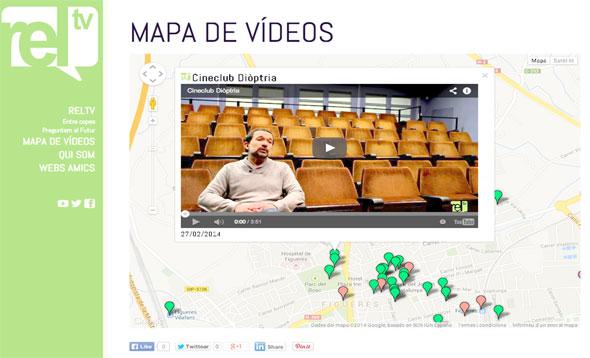 Figura 2.  Exemple de vídeo en el Mapa de vídeos