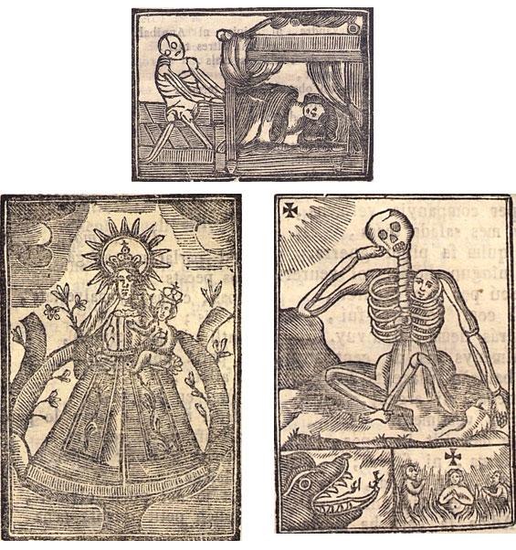 Figures 22–24. Peregrinació del venturós pelegrí. Lleida: Bonaventura Corominas, sense data. Biblioteca de Catalunya, [15-IV-53/1].