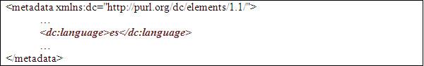 Element <dc:language>