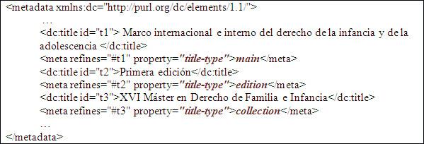 Ús de la propietat title-type per introduir el número d'edició, el títol principal i la col·lecció