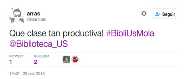 Tuit de un alumno durante el curso de @BUSEconomicas