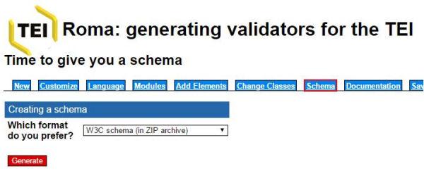 Descàrrega del sistema de validació per a l'esquema XML personalitzat