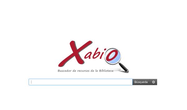 Figura 3. Página principal de la herramienta de descubrimiento, Xabio, implantada por la Biblioteca de la Universidad de Murcia