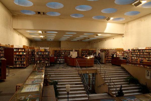 Interior de la Biblioteca de Viipuri. Autor: Reskelinen. Font: Wikipedia
