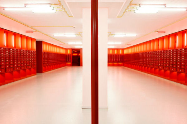 Habitació vermella de la Biblioteca de la Universitat d'Amsterdam. Autor: Diane. Font: Dianewantstowrite.com