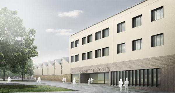 Biblioteca Montserrat Abelló i Soler: vista exterior