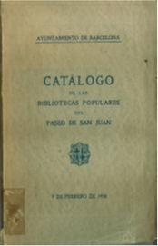 Figura 12. Coberta del catàleg dels llibres dels bancs