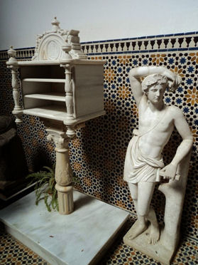 Figura 6. Prestatgeria de la glorieta de G. A. Bécquer. Font: Cultura de Sevilla