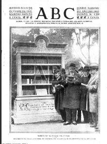 Figura 7. Portada del diari ABC, 31 d'octubre de 1919