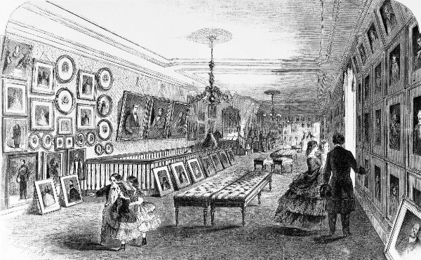 Figura 1. A. Berghaus. Galería de Mathew Brady en Broadway. Grabado en Leslie's Illustrated Newspaper, 5 de enero de 1861