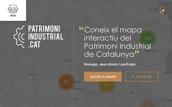 Figura 1. Página de inicio del sitio web PatrimoniIndustrial.cat Fuente: PatrimoniIndustrial.cat
