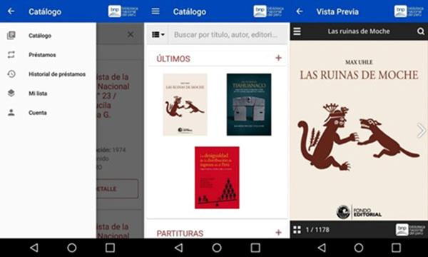 Figura 1. Aplicación BNP Digital. Fuente: Biblioteca Nacional del Perú