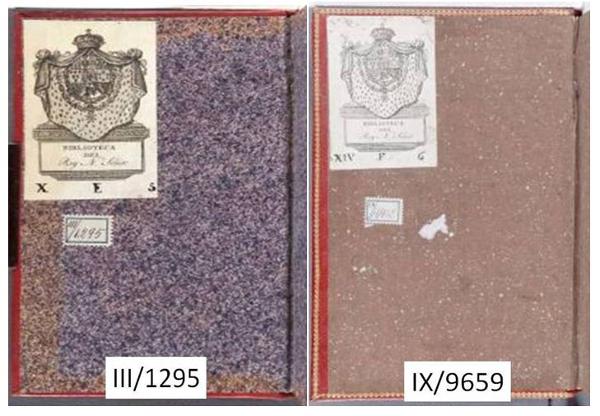 Figura 10. Guardes de paper esquitxat Font: Real Biblioteca