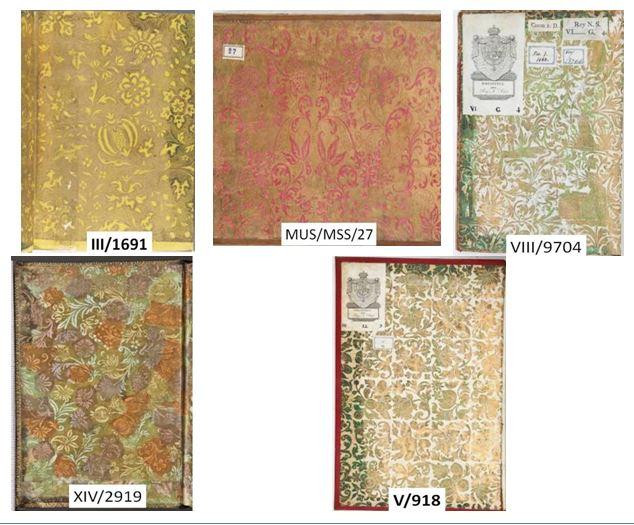 Figura 11. Guardes de paper daurat i gofrat Font: Real Biblioteca