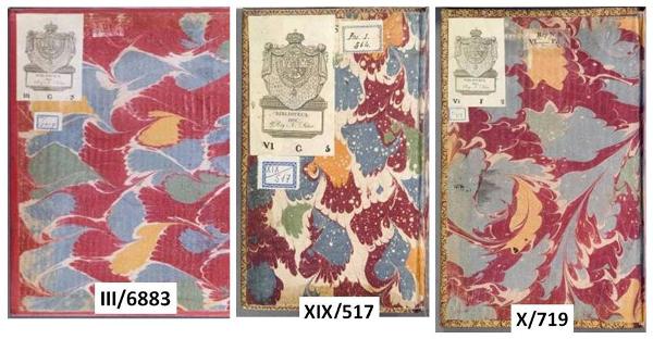 Figura 5. Guardes de paper model persillé  Font: Real Biblioteca