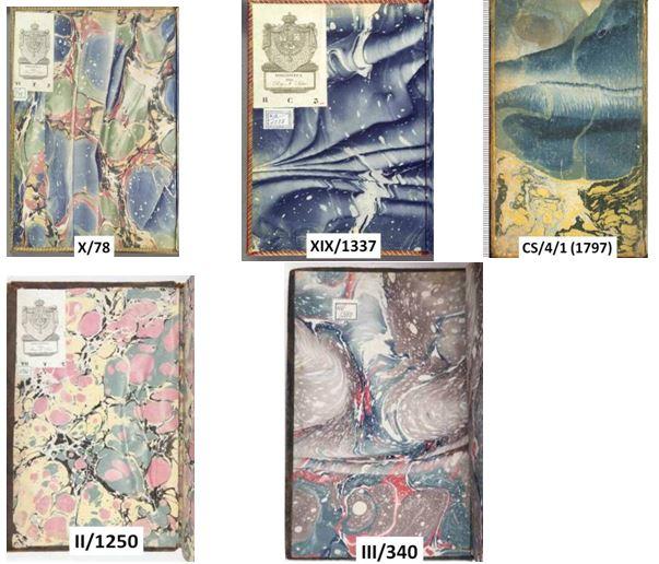 Figura 6. Guardes de paper model plegat espanyol Font: Real Biblioteca