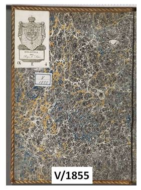 Figura 7. Guardes de paper model imperi o Stormont Font: Real Biblioteca