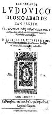 Figura 4. Portada. Las obras de Ludovico Blosio (1625). Font: Biblioteca de la Universidad Pública de Navarra: segle xvii [110]