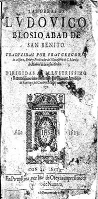 Figura 5. Portada. Las obras de Ludovico Blosio (1625). Font: Biblioteca Foral de Bizkaia: VR-345