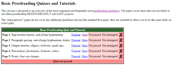 Tutorials i proves d'avaluació al Proofreaders