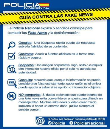 Figura 1. Guia per a combatre les fake news del Ministerio del Interior d'Espanya
